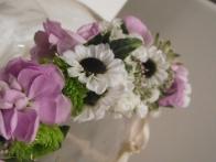 corona de flores novia floristeria garralda