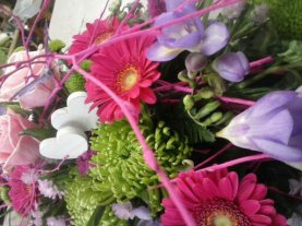 floristería Garralda (20)rosa,gerbera,corazón