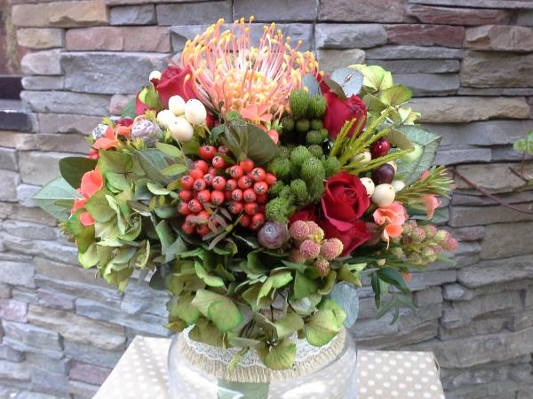 ramo novia hortensias, floristeria garralda