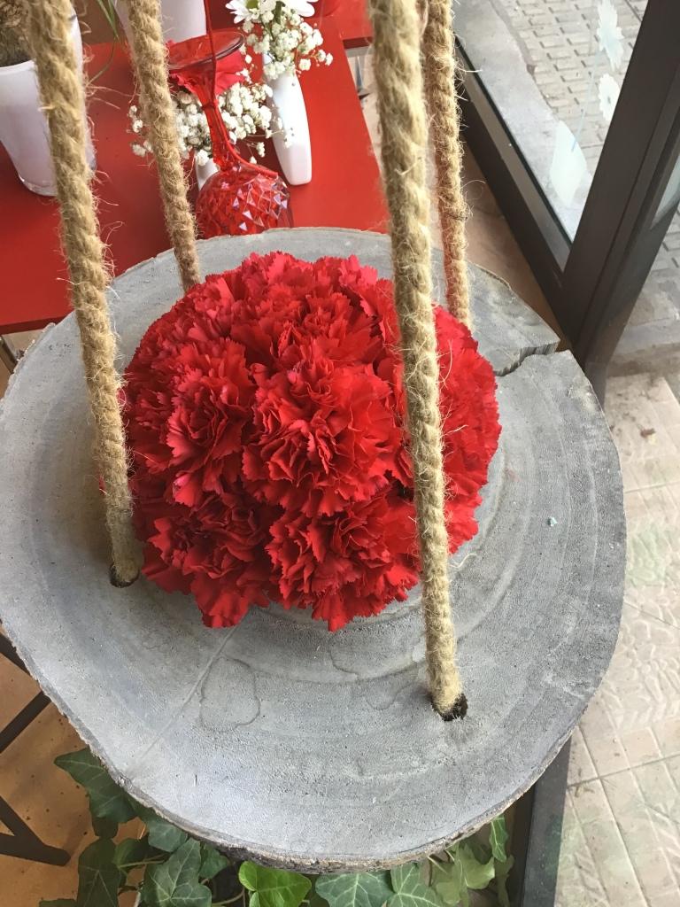 Floristería Garralda, claveles rojos